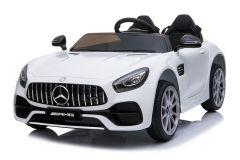 12V Lizenziertes Mercedes AMG GT Zweisitzer Elektrofahrzeug Weiß