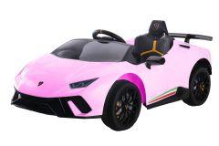 12V Lizenziertes Lamborghini Huracan Elektrofahrzeug Rosa