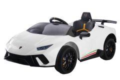 12V Lizenziertes Lamborghini Huracan Elektrofahrzeug Weiß