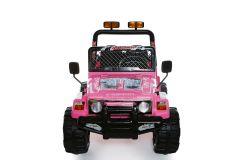 Rosa 2 Sitzer 4x4 Lastwagen – 12V Kinder Elektrofahrzeug