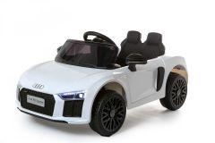 12V Lizenziertes Audi R8 Spyder Batteriebetriebenes Auto, Weiß