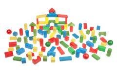 Kleine Holzbausteine, Kinder Spielzeug 100 Stück