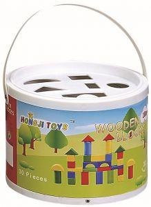 Kleine Holzbausteine, Kinder Spielzeug 30 Stück