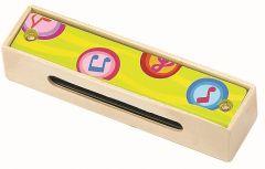 Mundharmonika, Gelb aus Holz