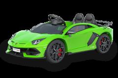 12V Lizenziertes Lamborghini Zweisitzer Elektrofahrzeug Grün