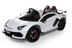 12V Lizenziertes Lamborghini Zweisitzer Elektrofahrzeug Weiß