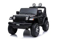 12V Lizenziertes Jeep Rubicon Zweisitzer Kinderauto Schwarz