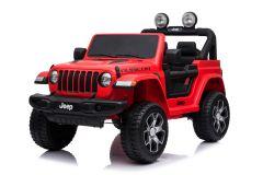 12V Lizenziertes Jeep Rubicon Zweisitzer Kinderauto Rot