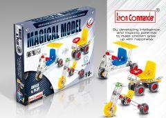 Kleinen Konstruktionsspielzeug für Kinder - 3 Gemischte Modellen aus Metall 165 Stück