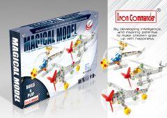 Kleinen Konstruktionsspielzeug für Kinder - 3 Gemischte Flugzeug Modellen aus Metall 210 Stück