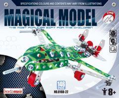 Kleinen Konstruktionsspielzeug für Kinder – Jagdflugzeug aus Metall 146 Stück