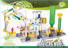 Kleinen Konstruktionsspielzeug für Kinder – pneumatische Bagger Plattform aus Metall 807 Stück