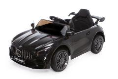 12V Lizenziertes Mercedes GTR Kinder Elektrofahrzeug Schwarz