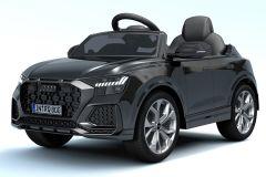 12V Lizenziertes Audi Q8 RS Schwarz Batteriebetriebenes Auto