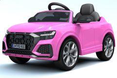 12V Lizenziertes Audi Q8 RS Rose Batteriebetriebenes Auto