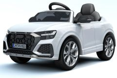 12V Lizenziertes Audi Q8 RS Weiß Batteriebetriebenes Auto