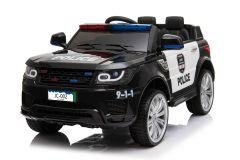 Batteriebetriebene 12V Polizeiwagen Schwarz Elektrofahrzeug