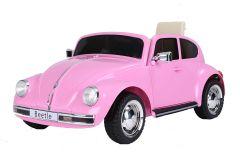 12V Lizenziertes VW Beetle Rosa Elektrofahrzeug