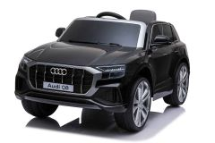 12V Lizenziertes Audi Q8 Schwarz Batteriebetriebenes Auto