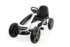Lizenziertes Mercedes Pedalbetriebenes Go-Kart Weiß