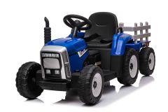 12V Traktor und Anhänger Blau - Fernbedienung und Doppelmotoren
