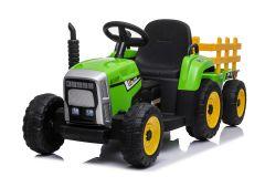 12V Traktor und Anhänger Grün - Fernbedienung und Doppelmotoren