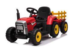 12V Traktor und Anhänger Rot - Fernbedienung und Doppelmotoren